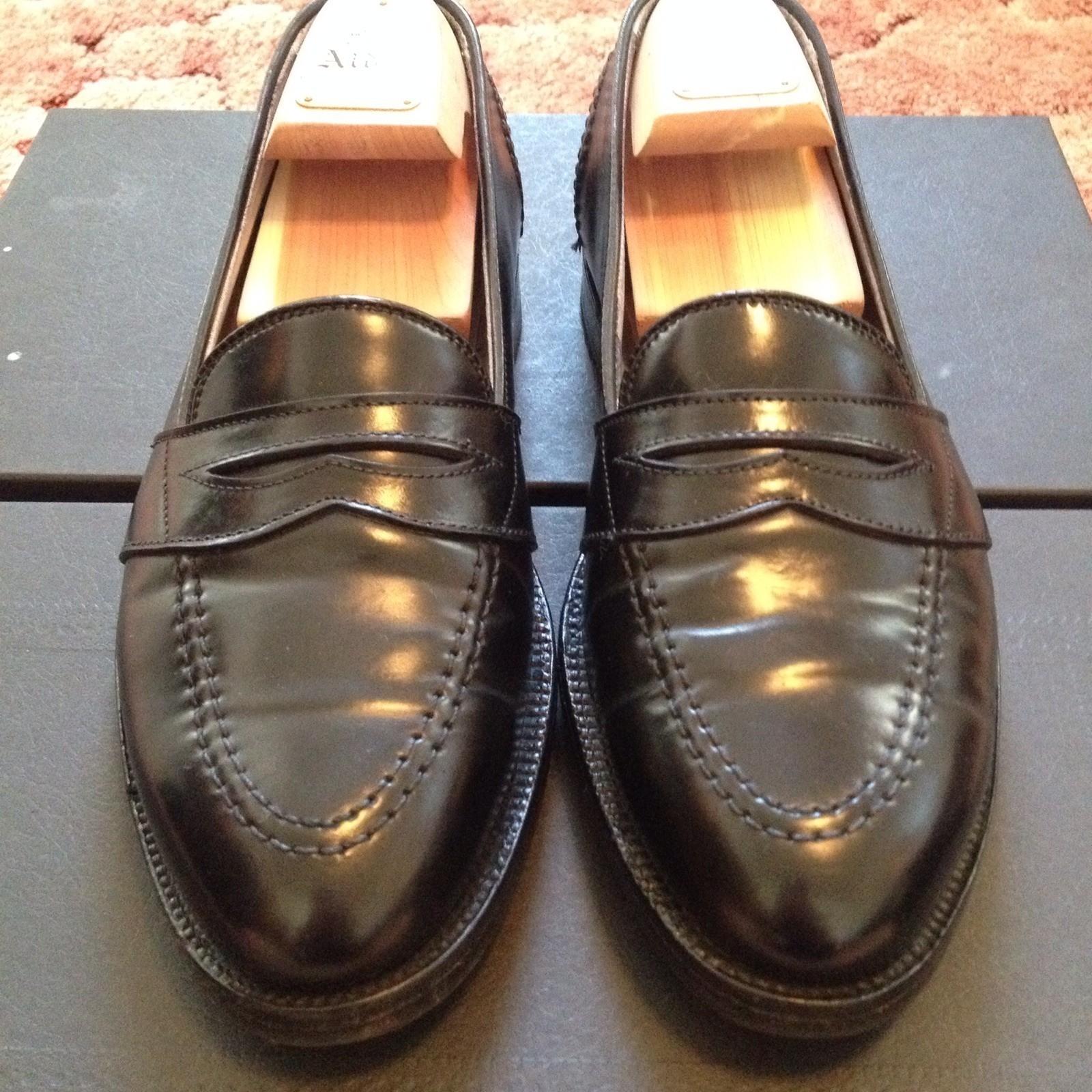 For sale alden 6845 black shell cordovan low vamp loafer sz 8c lnib