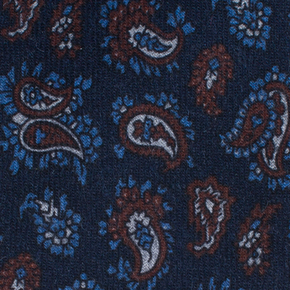 Drakes of London Navy Paisley Tie