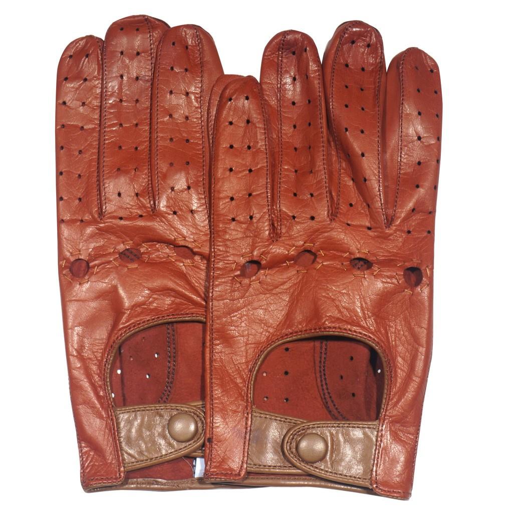 Driving gloves portland oregon - Epaulet Italian Driving Gloves Black Tan Nappa 135