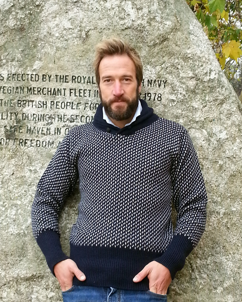 Looking for Norwegian style Shawl collar sweater, like ...