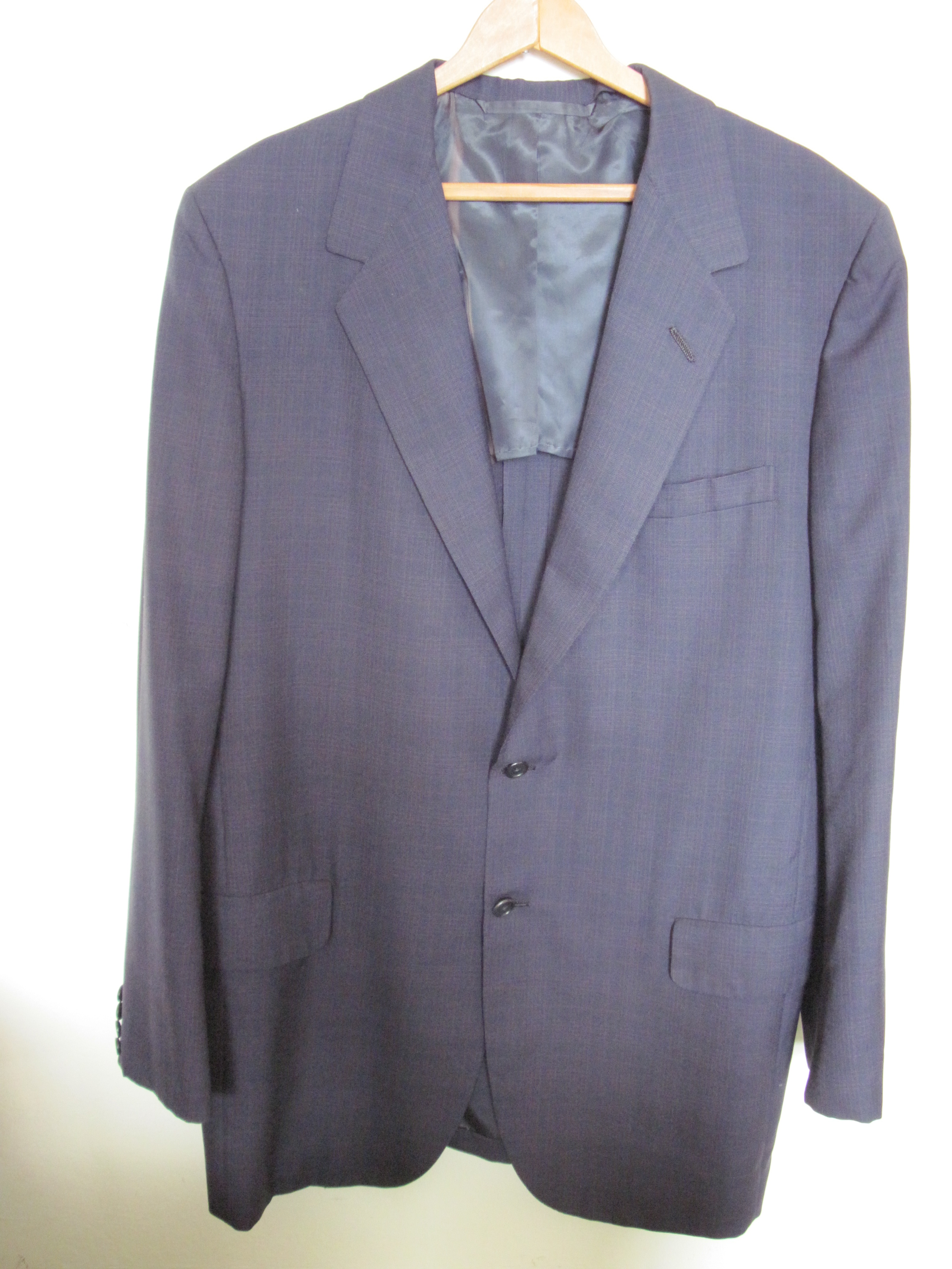 1ee5036d8 MTM Oxxford navy sport coat - roughly 44R (starting price - $0.99) here: