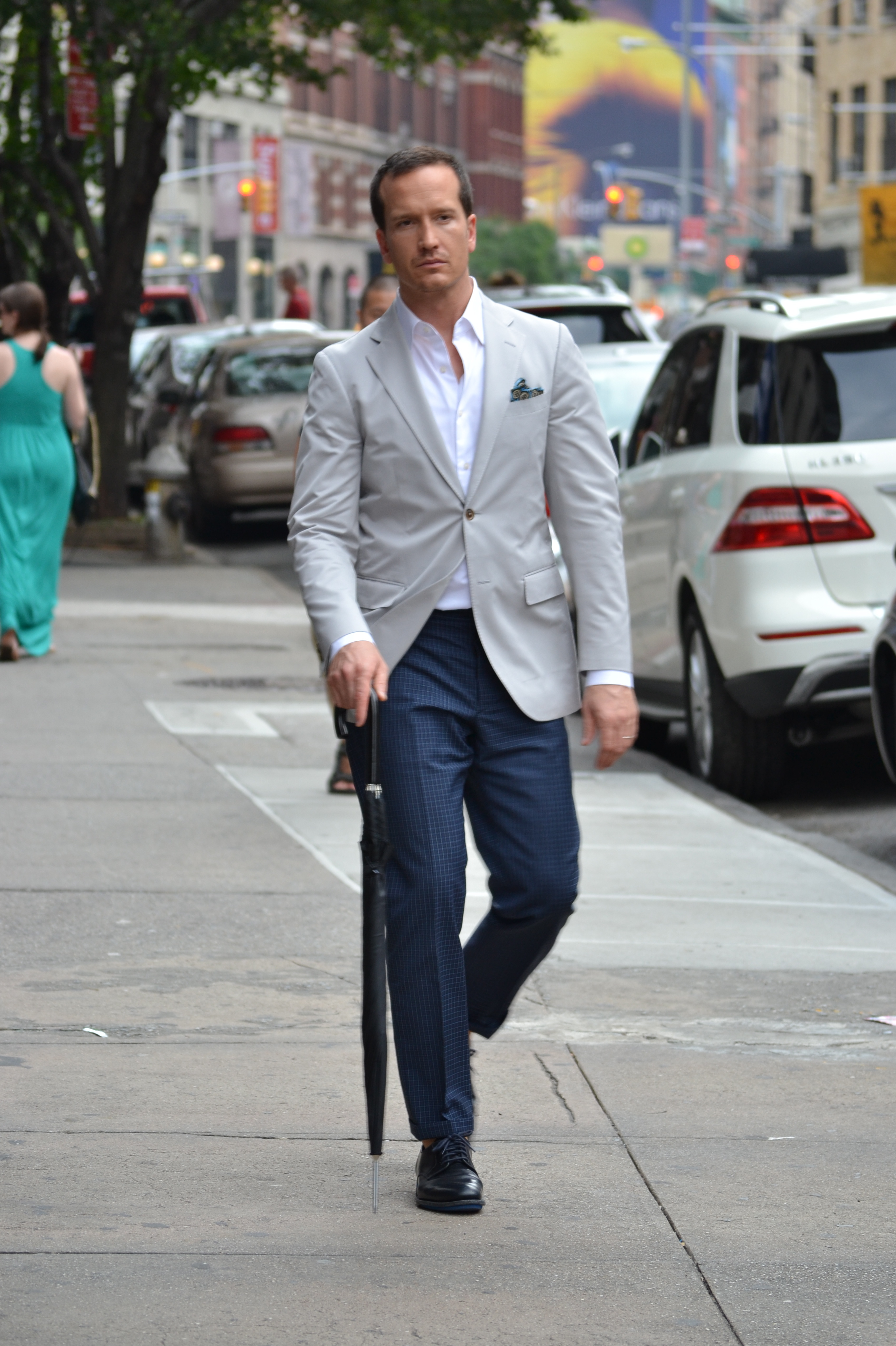What Shirt With A Grey Sports Coat Navy Pants Brown Shoes Styleforum