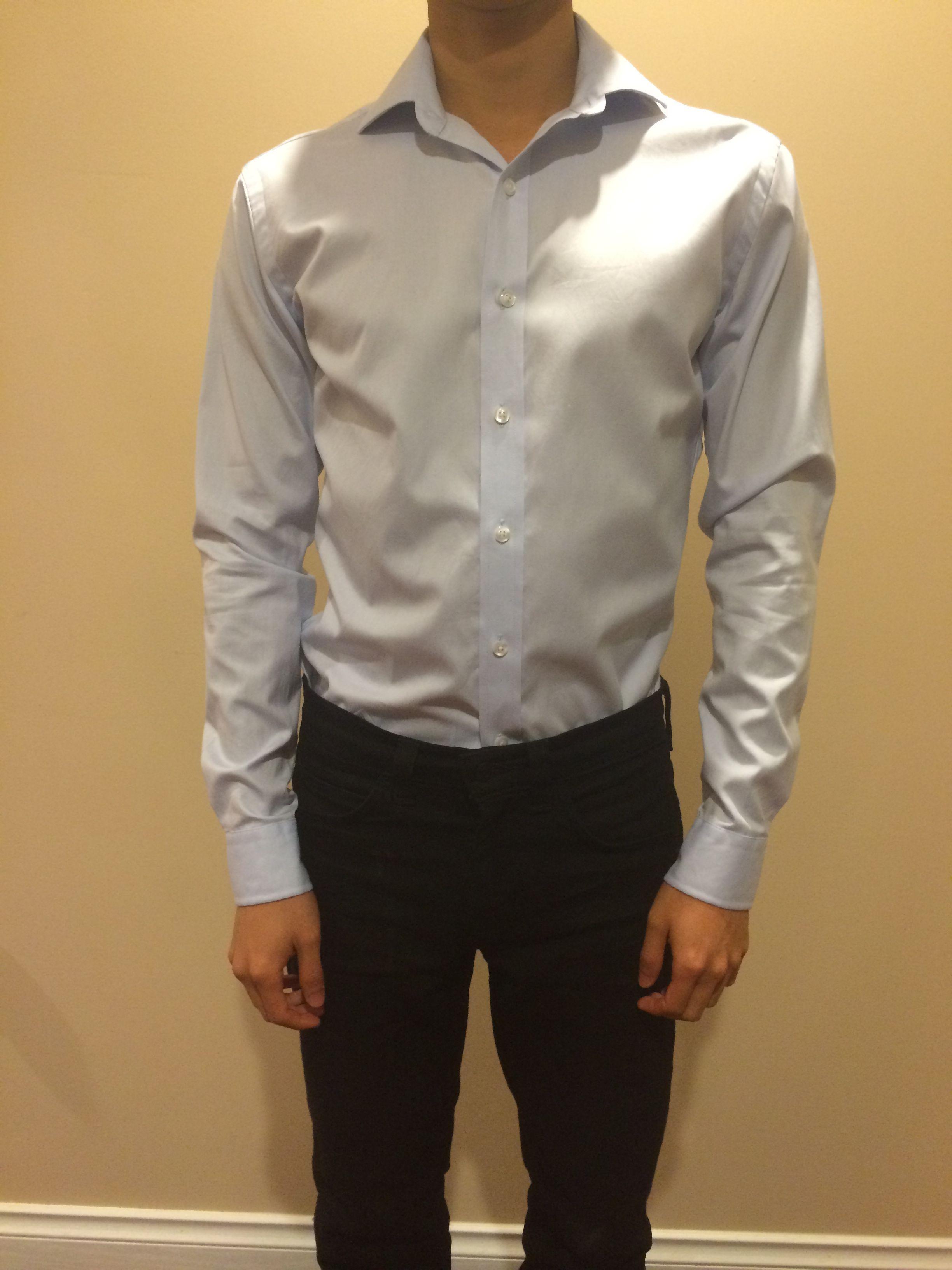 proper cloth mtm dress shirt fit check