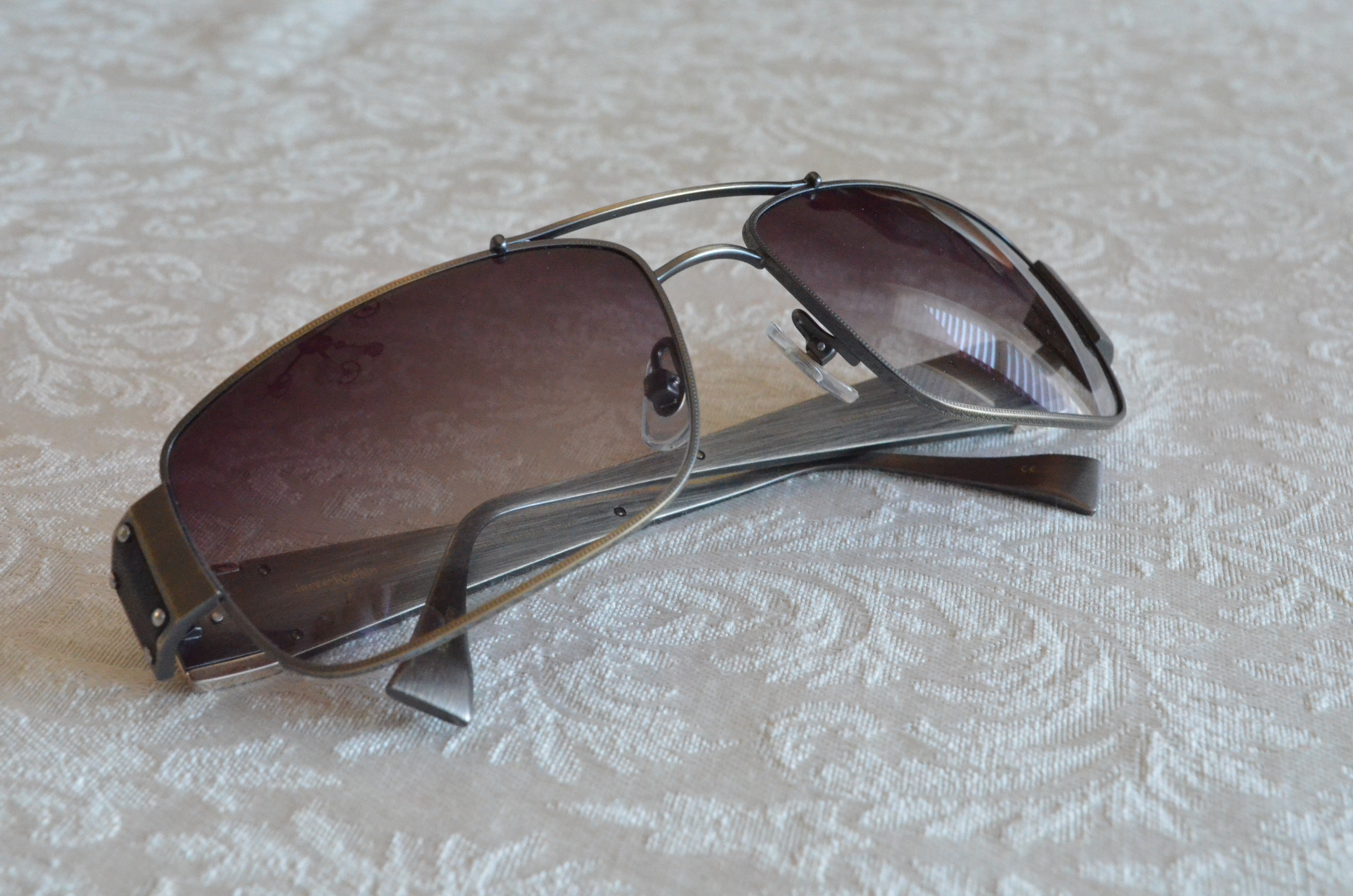bbbeeed433bc Below  Loree Rodkin Hunter (titanium frame with leather and sterling silver  decoration)