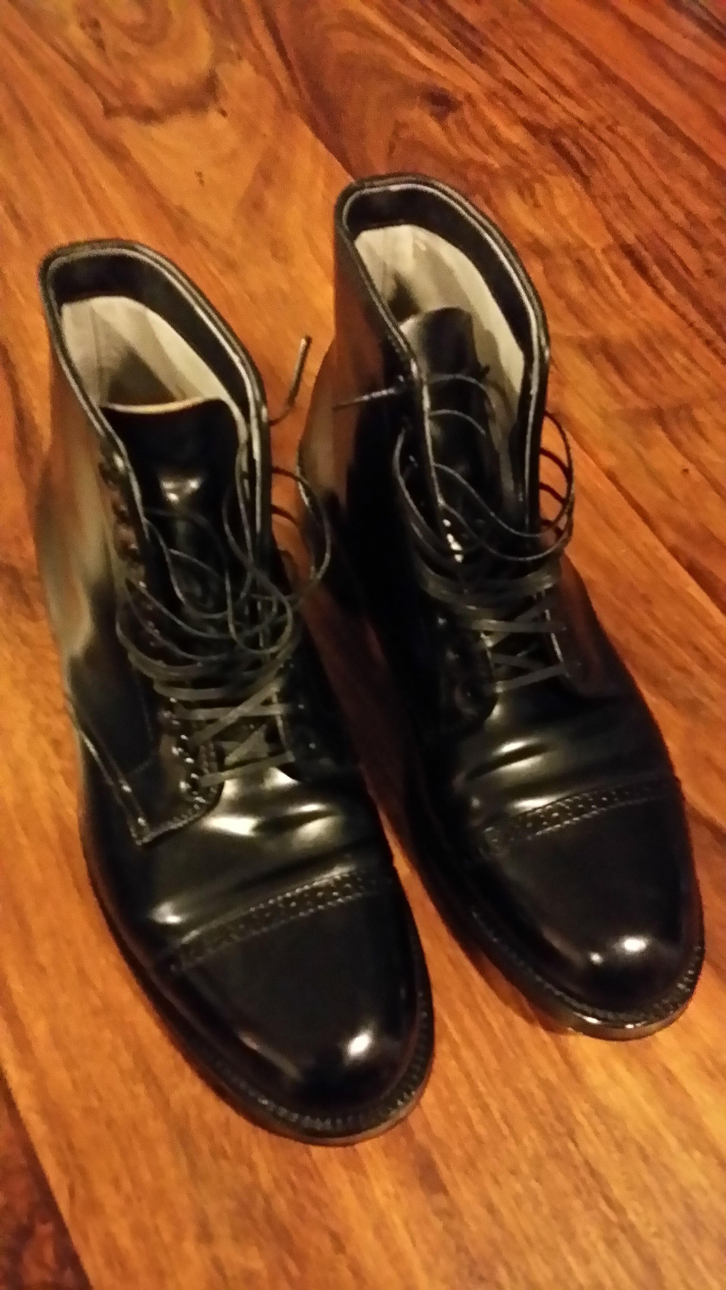 Alden Black Cordovan CapToe Navy Boots