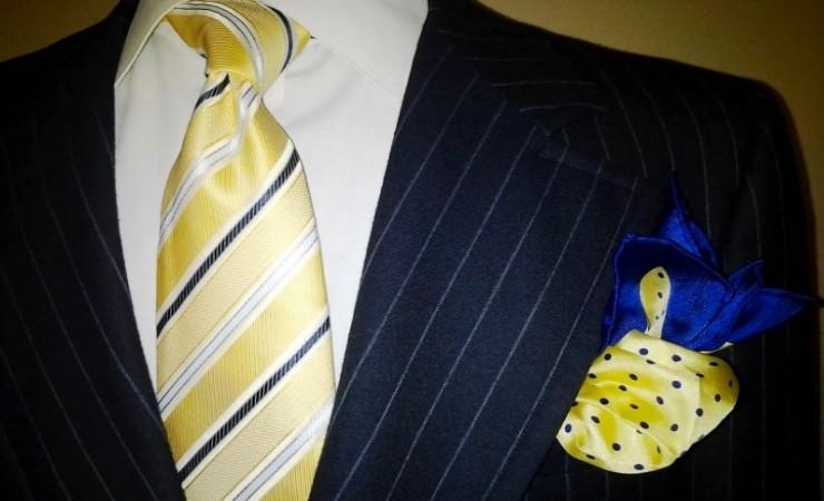 yellow positivity tie