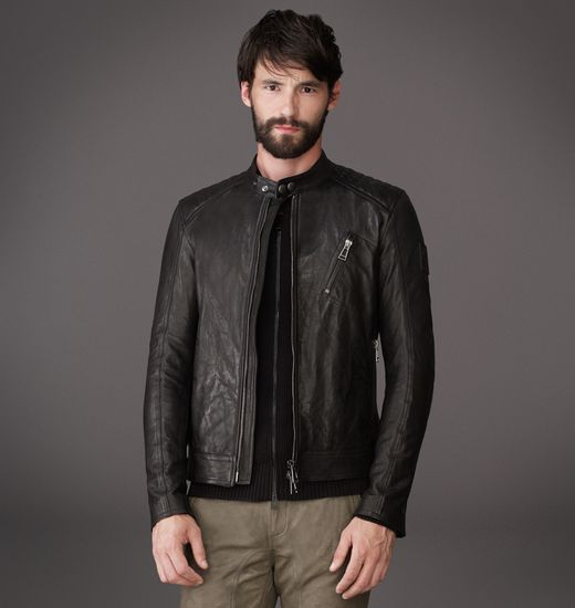 suggestions for shirt pairings with belstaff cafe racer style leather jacket. Black Bedroom Furniture Sets. Home Design Ideas