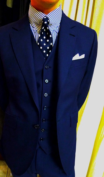 Light blue dress shirt with navy suit styleforum for Navy suit and shirt combinations