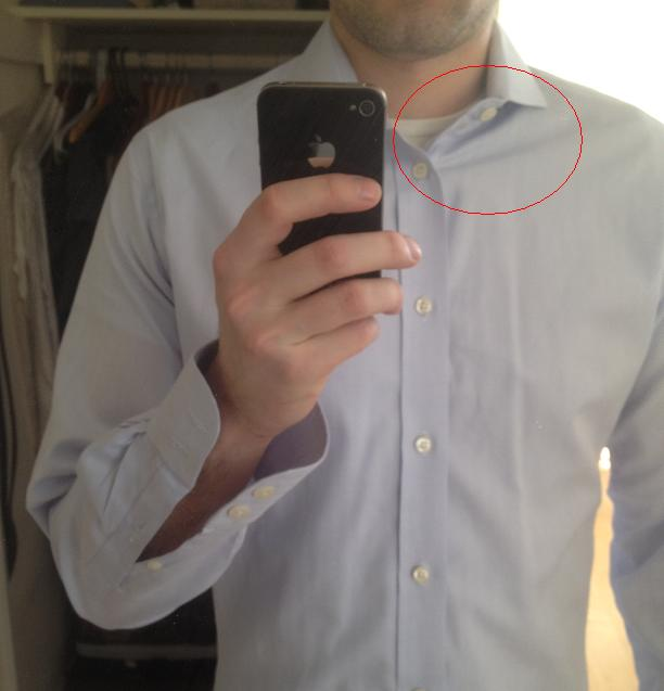 Shirt fit advice shoulder issue modern tailor for How much to get a shirt tailored