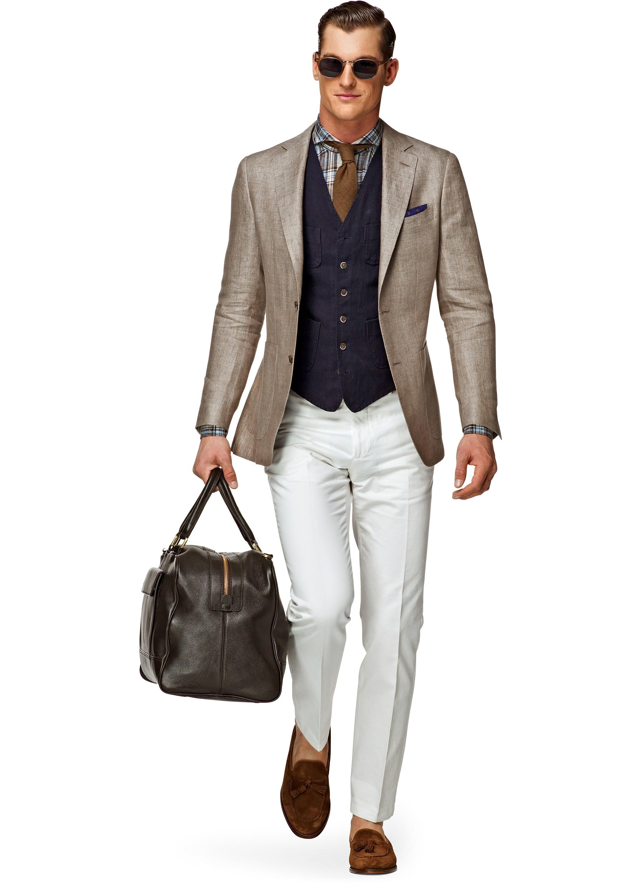Brown Linen Jacket - JacketIn
