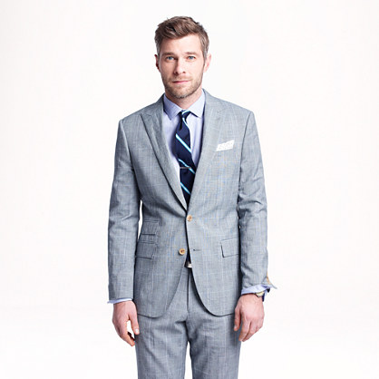 Wool-Linen Glen Plaid Suit Outfit Feedback