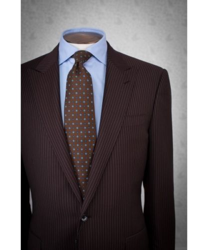 What are some tie colors that go well with a chocolate brown suit