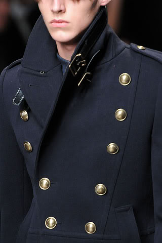 Looking for Military style peacoat by Burberry Prorsum navy color ...