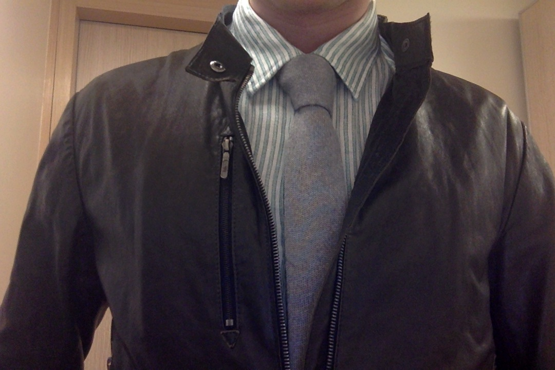 Thoughts On Leather Jacket Shirt Tie Pics In Op Styleforum