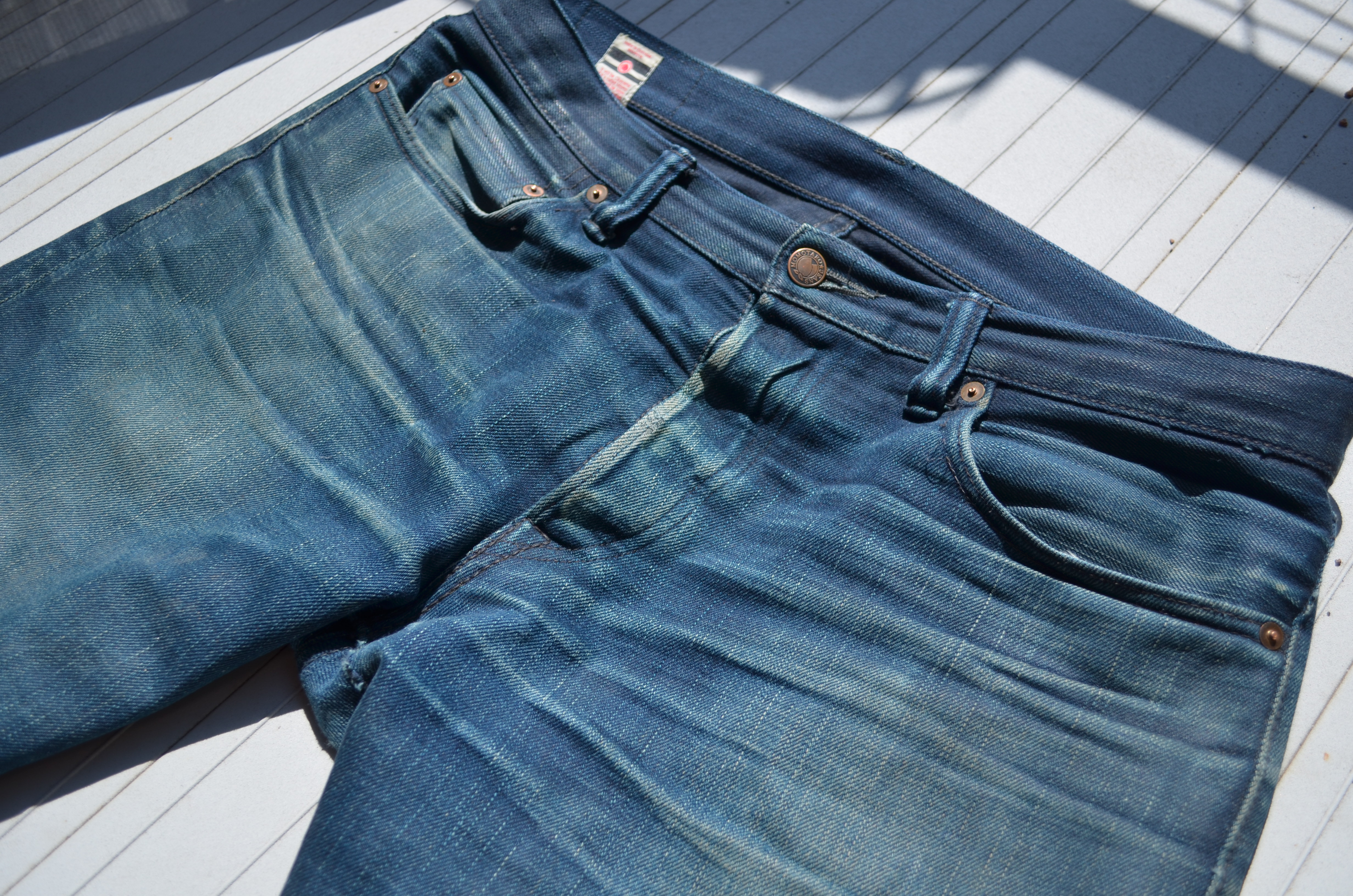 """The first pair of """"raw"""" denim jeans I saw that were not my father's Levi's  Orange tabs ($29.95 at Zellers back in 1980) were Helmut Lang's """"Narrow""""  and """" ..."""