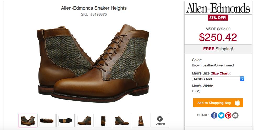 Allen Edmonds Appreciation Thread Reviews Pictures Sizing Etc