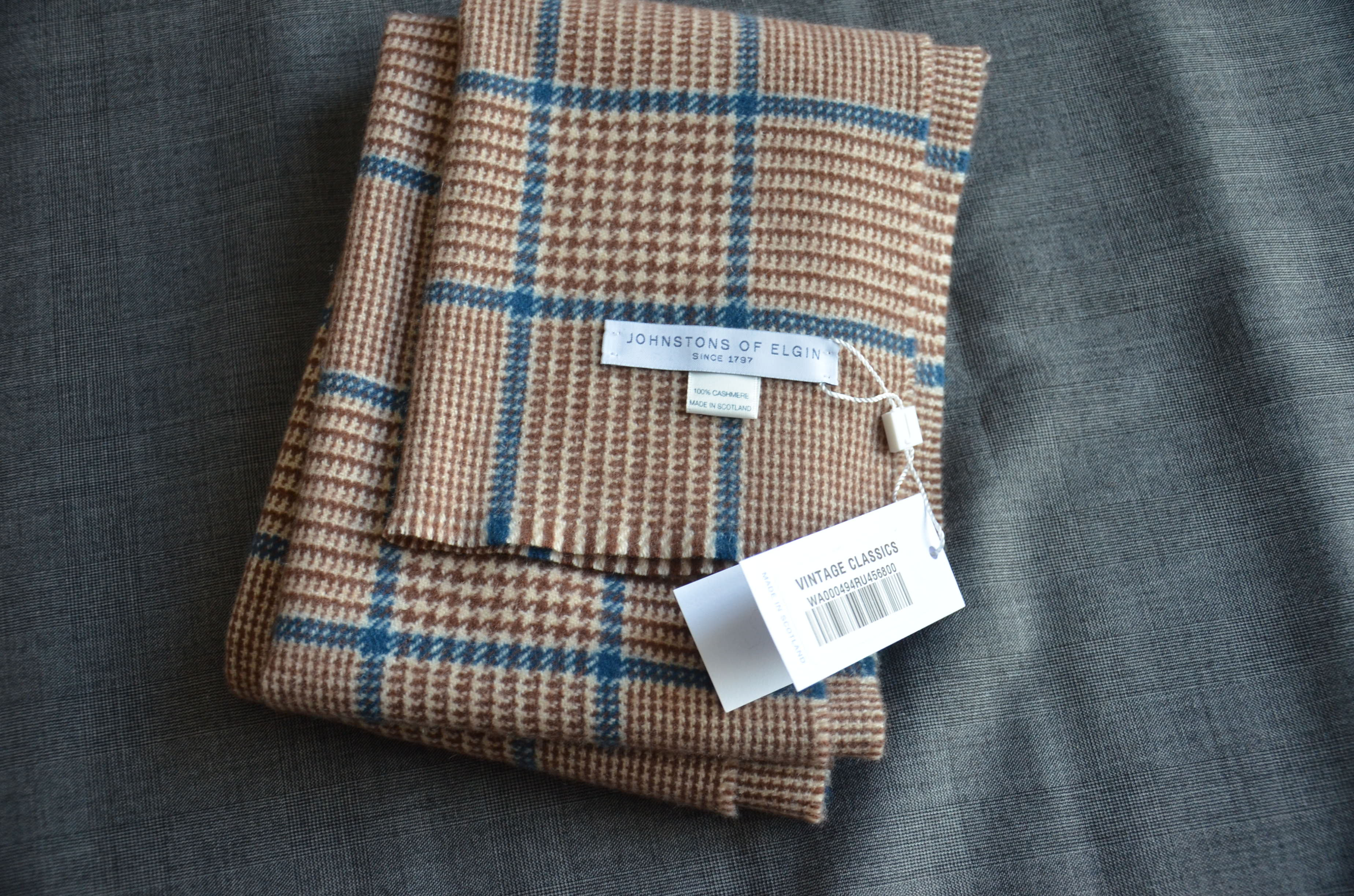 Johnstons Of Elgin Cashmere Scarf Brand New With Tags
