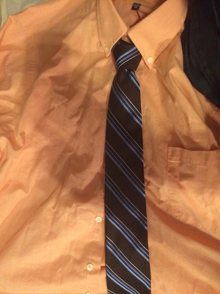 tie to go with orange shirt. Black Bedroom Furniture Sets. Home Design Ideas