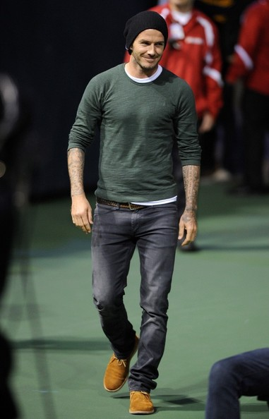 What brand jeans is david beckham wearing for David beckham t shirt brand