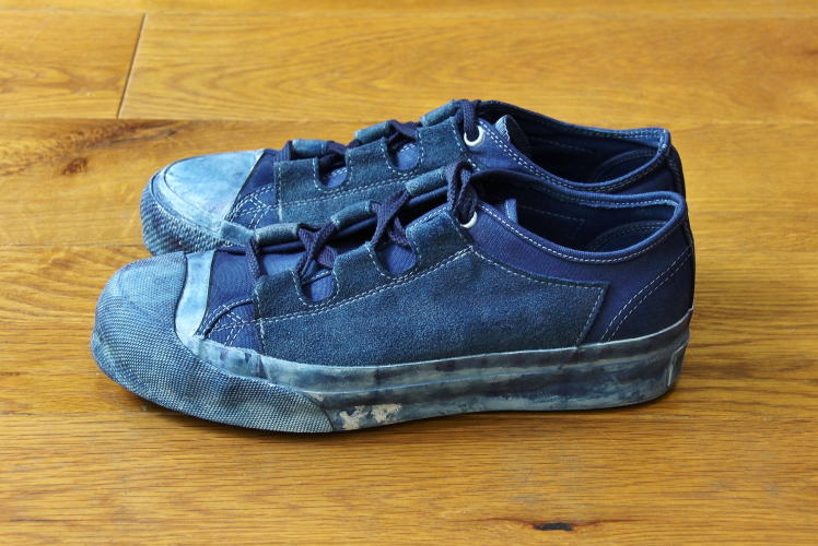 I like the indigo dyed mismatch ghillie lace sneakers   IMG  5195bc7f6