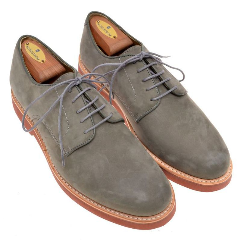 8ac275ea943 BROOKS BROTHERS Gray Blue Suede PTB Bucks Oxford Mens Dress Shoes - 9.5 D -   115
