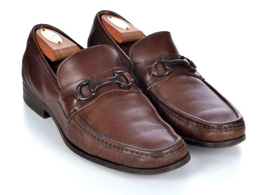 SALVATORE FERRAGAMO Tramezza Brown Suede Cap Toe Oxford Mens Dress Shoes -  8 D -  150 bec56b507d07