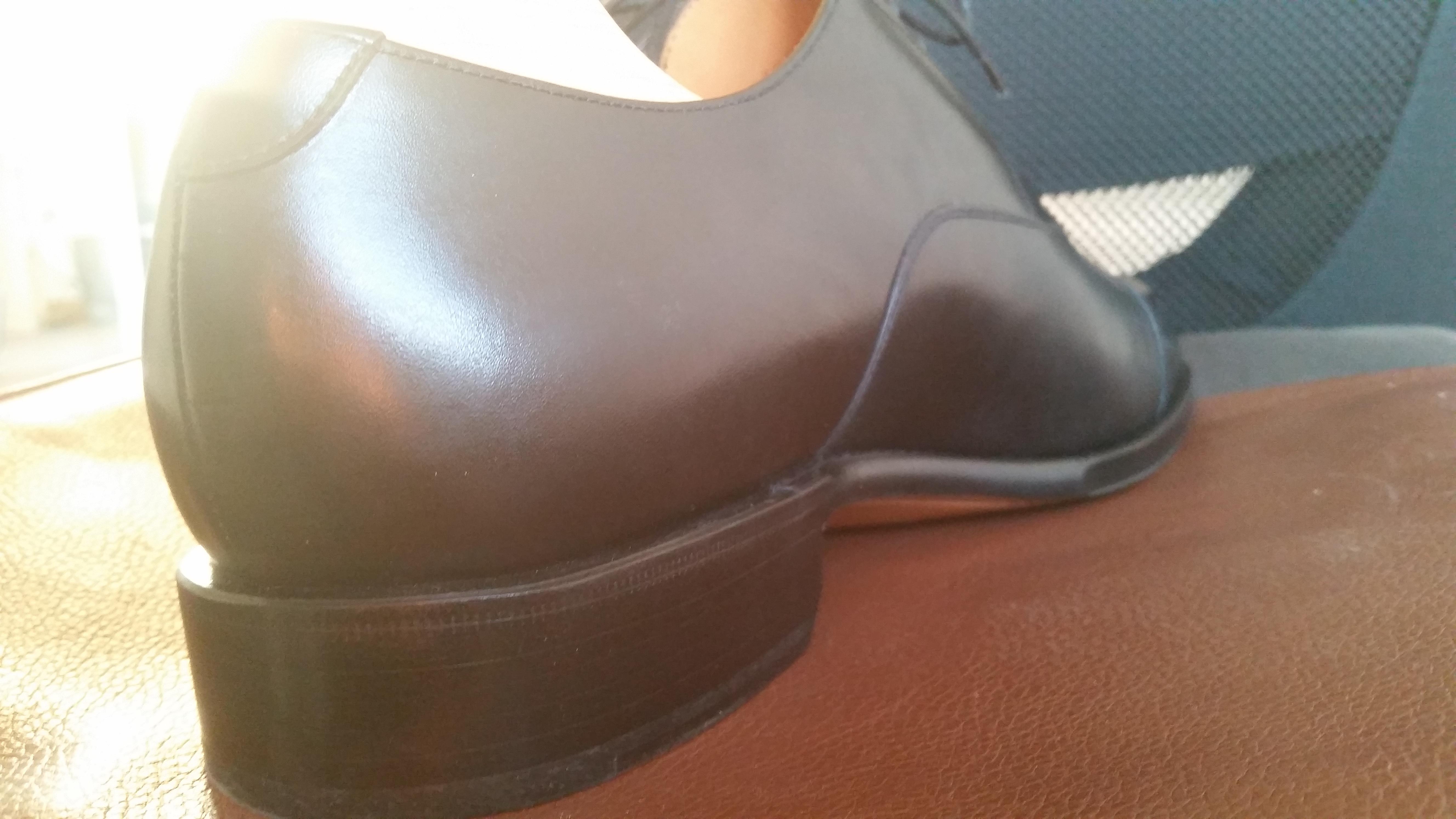 Dress Shoe Edge Clear Finish