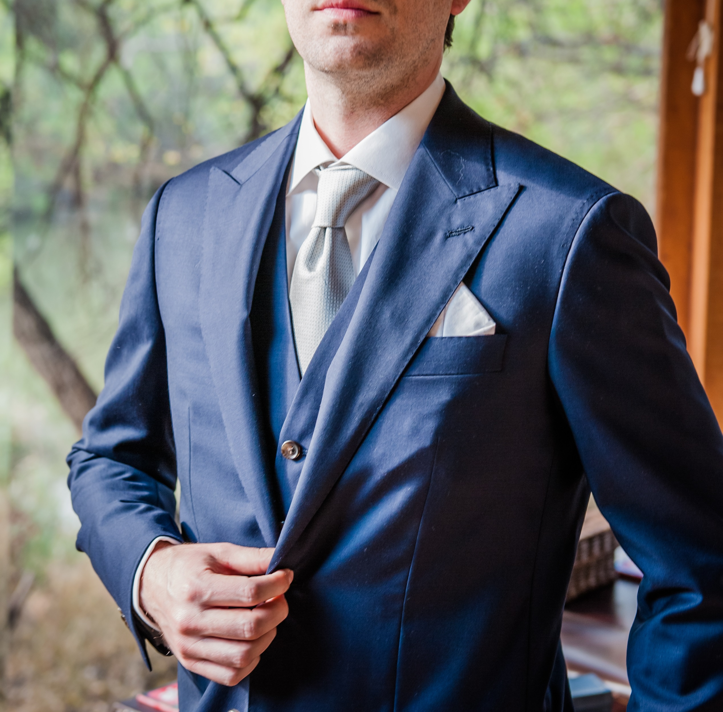 Sam Hober Wedding Tie Bespoke Shirt Allen Edmonds Independence Collection
