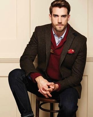 Layering a chunky sweater under a Sport Coat / Blazer - Size up ...