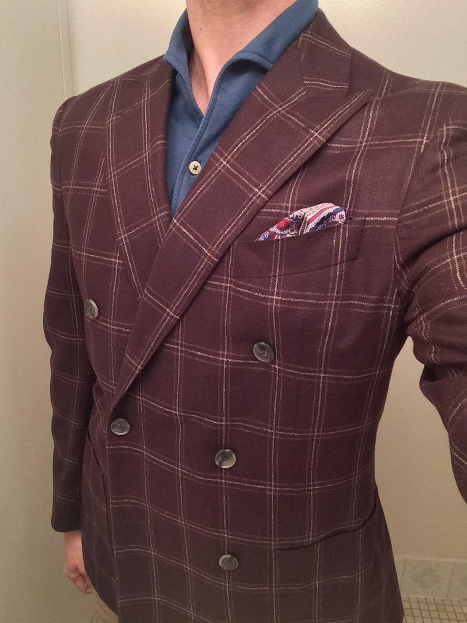 Eidos Brown DB jacket, Teal Lupo
