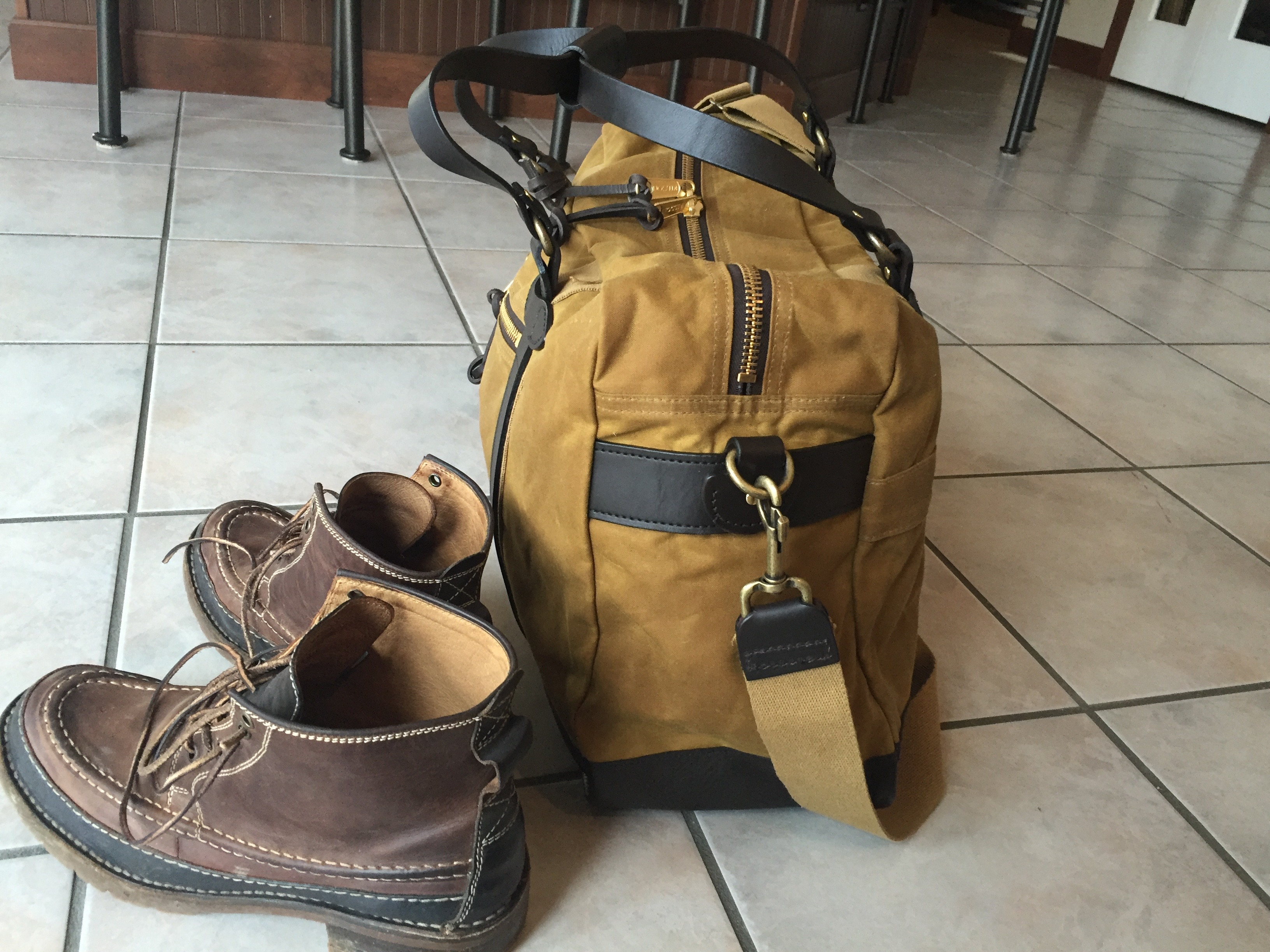Here Is The Bag Next To My Boots So You Can Get A Feel For Size
