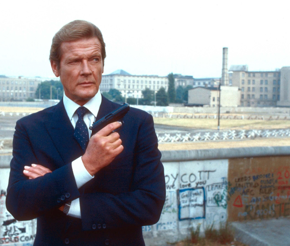 Roger Moore Octopussy (1983) Directed by John Glen UK - 10.06.1983 Featuring: Roger Moore When: 10 Jun 1983 Credit: WENN.com **WENN does not claim any ownership including but not limited to Copyright or License in the attached material. Fees charged by WENN are for WENN's services only, and do not, nor are they intended to, convey to the user any ownership of Copyright or License in the material. By publishing this material you expressly agree to indemnify and to hold WENN and its directors, shareholders and employees harmless from any loss, claims, damages, demands, expenses (including legal fees), or any causes of action or allegation against WENN arising out of or connected in any way with publication of the material.**