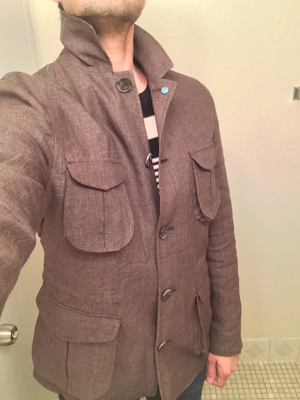Eidos Field Jacket and Striped Sweater