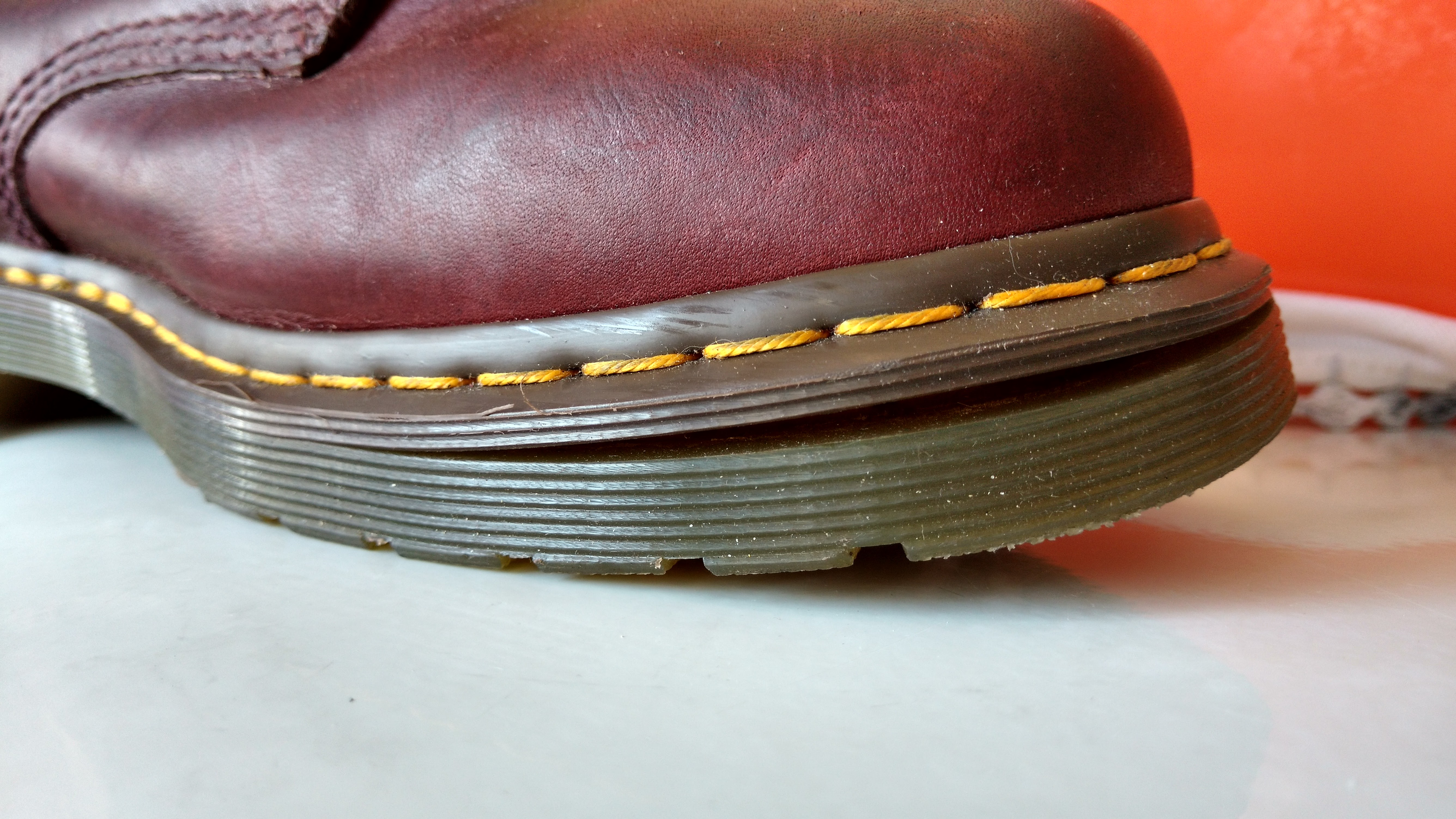 38637aa3968d I think this is where the sole was supposed to be heat-sealed together with  the upper so I am guessing this is a manufacturing defect. You can watch the  ...