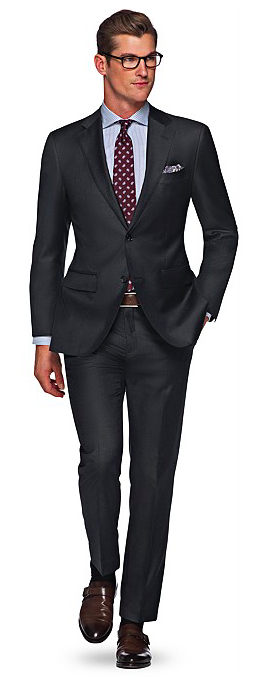 Brown Shoes and Dark Grey Suit   Styleforum