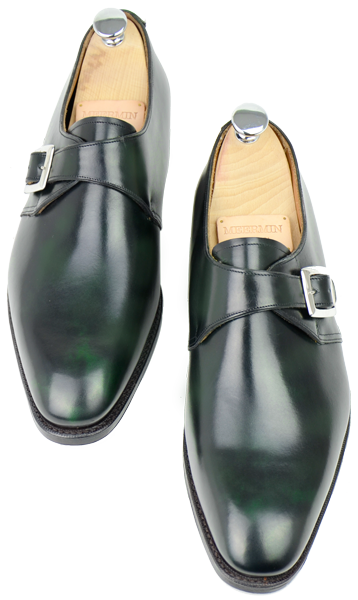 Meermin Single Monks - Green Museum Calf.png