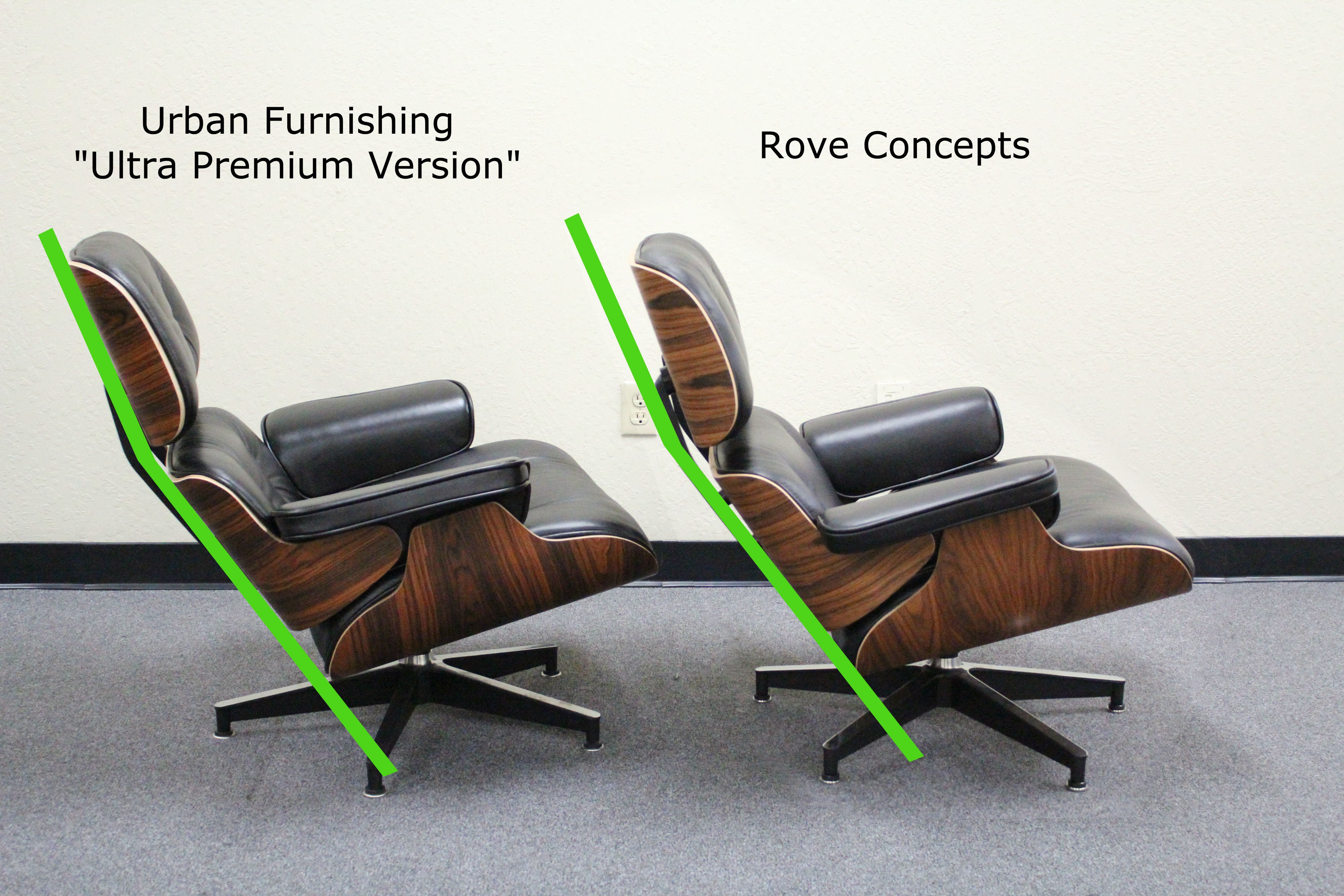 Eames lounge chair copies worth it page 59 styleforum for Grand repos chair replica