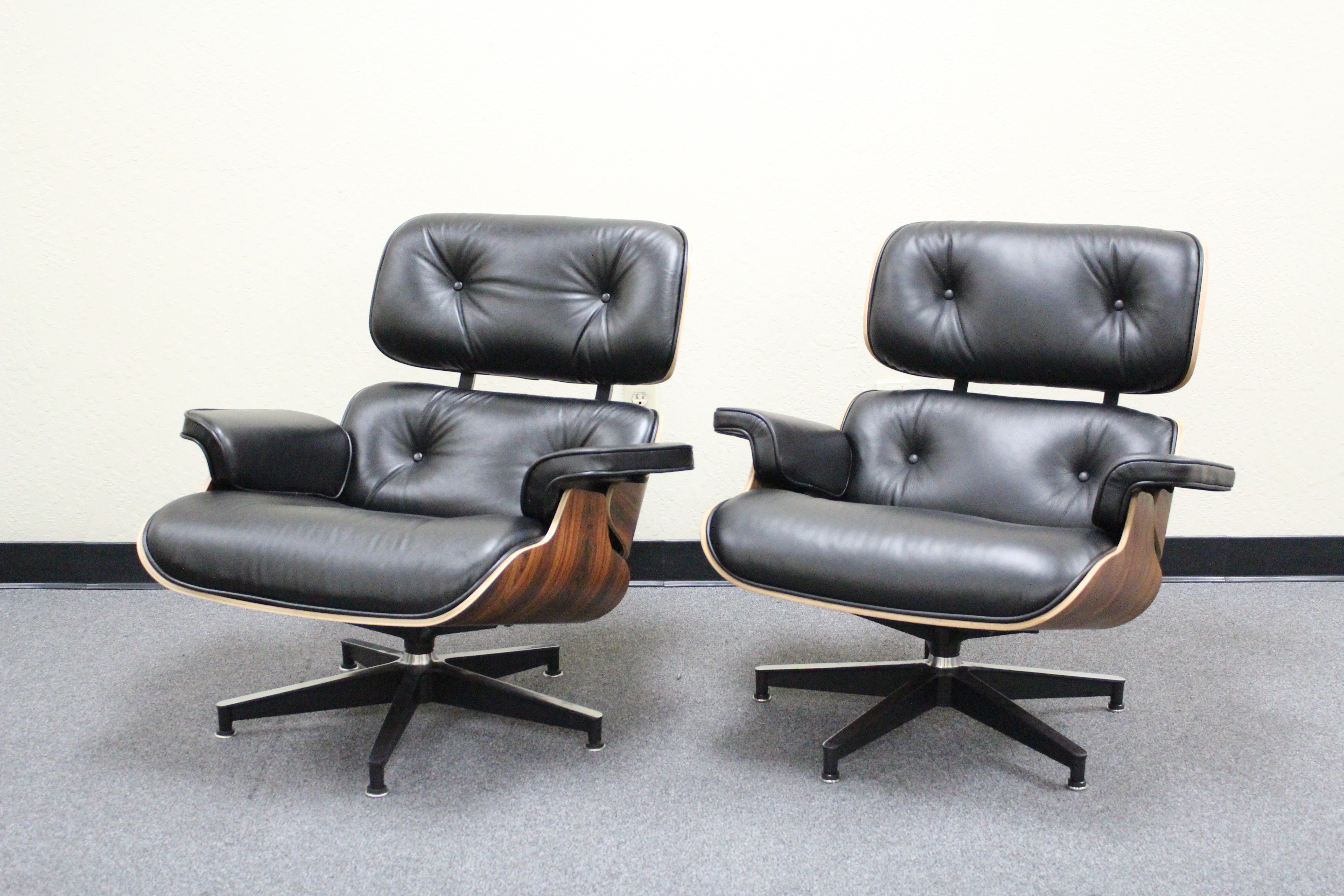milano lounge black republic eames reproduction replica limited edition chair ottoman piping leather furniture full special italian cowhide pin