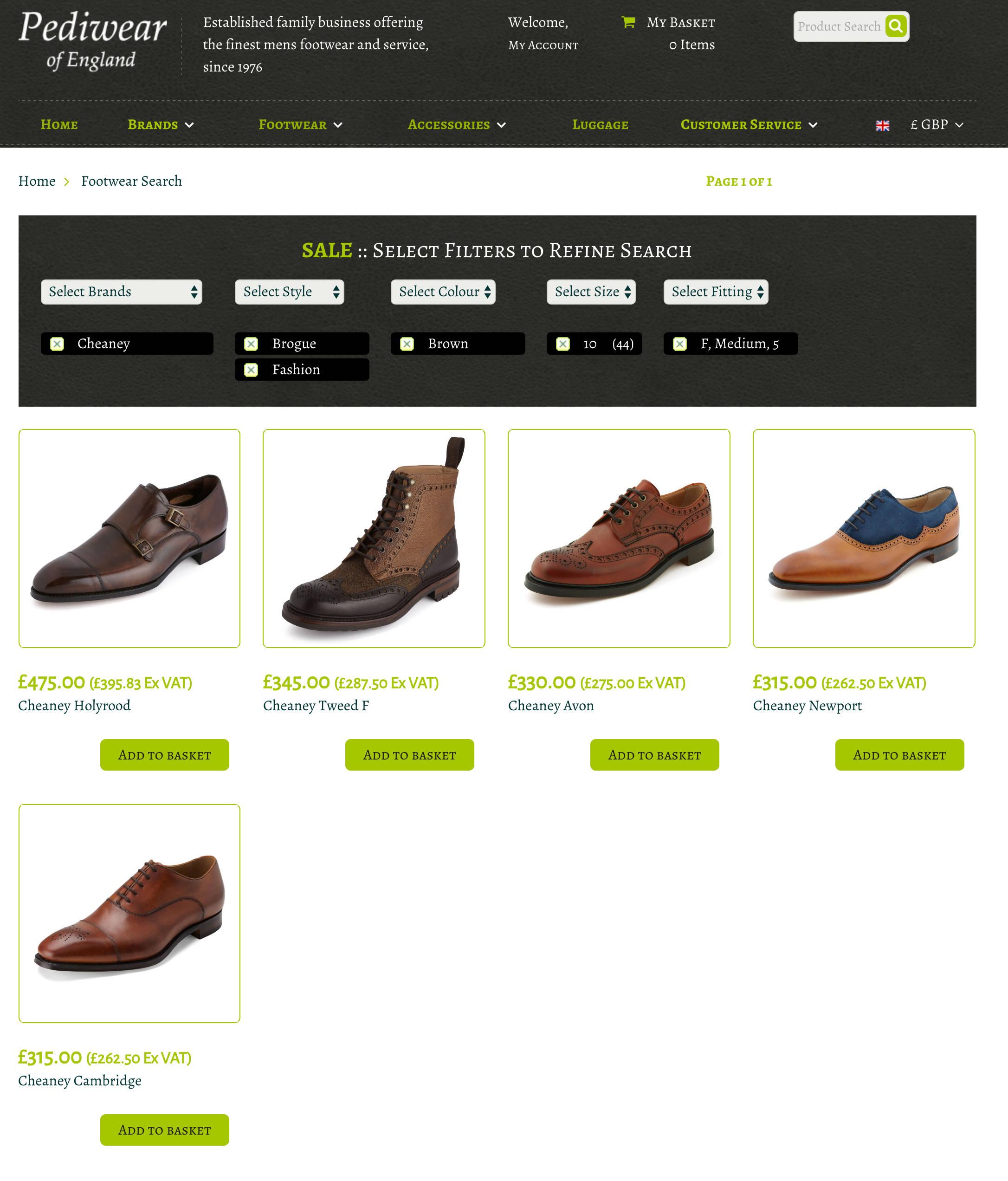Pediwear Website