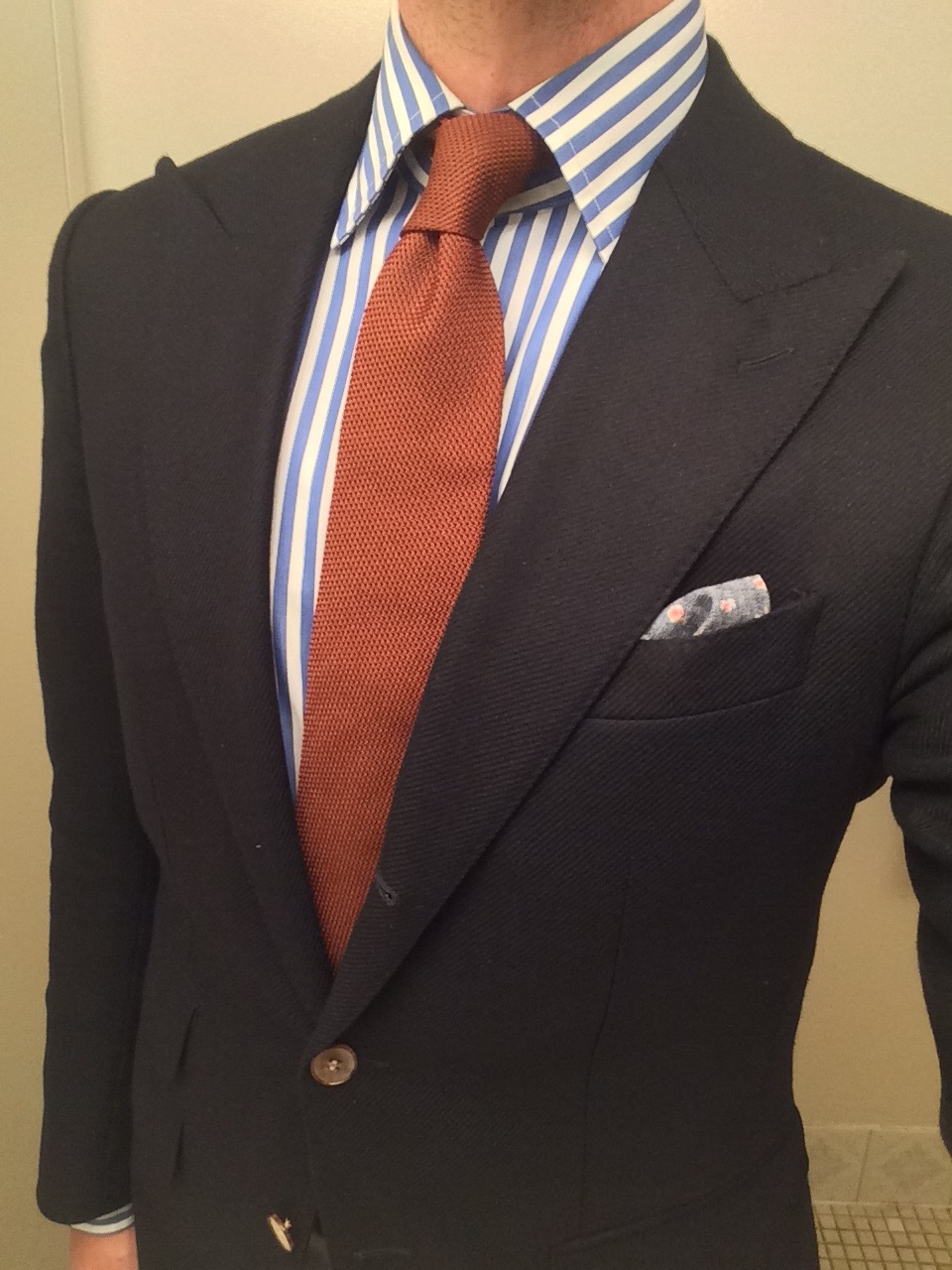 David Fin Tie - Copper Grenadine