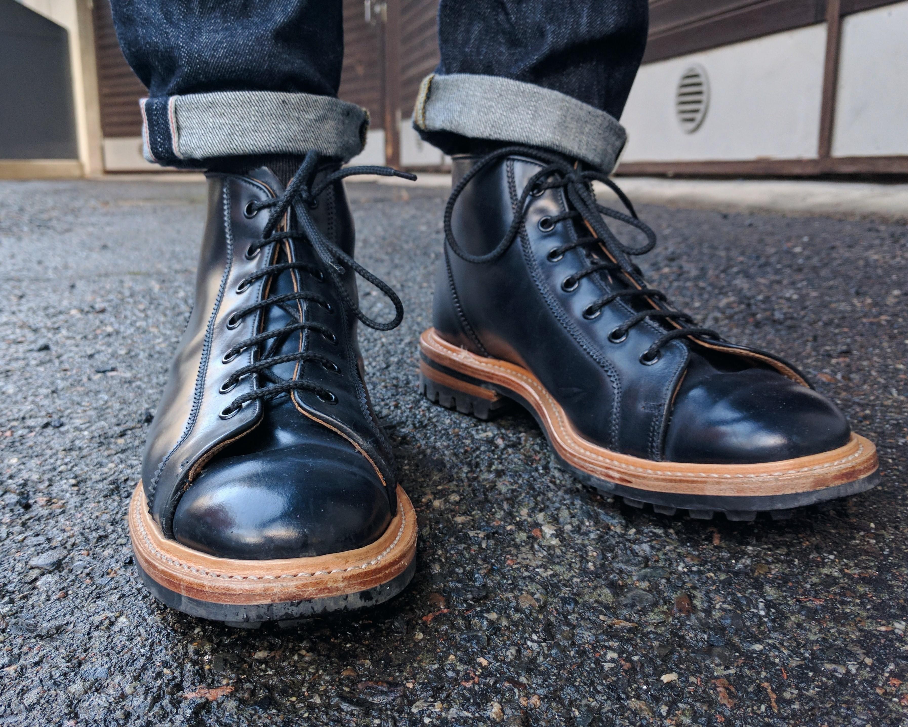 John Elliott Black Trickers Edition Chelsea Boots