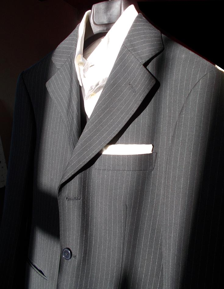 What tie with a dark gray pinstripe suit? | Styleforum