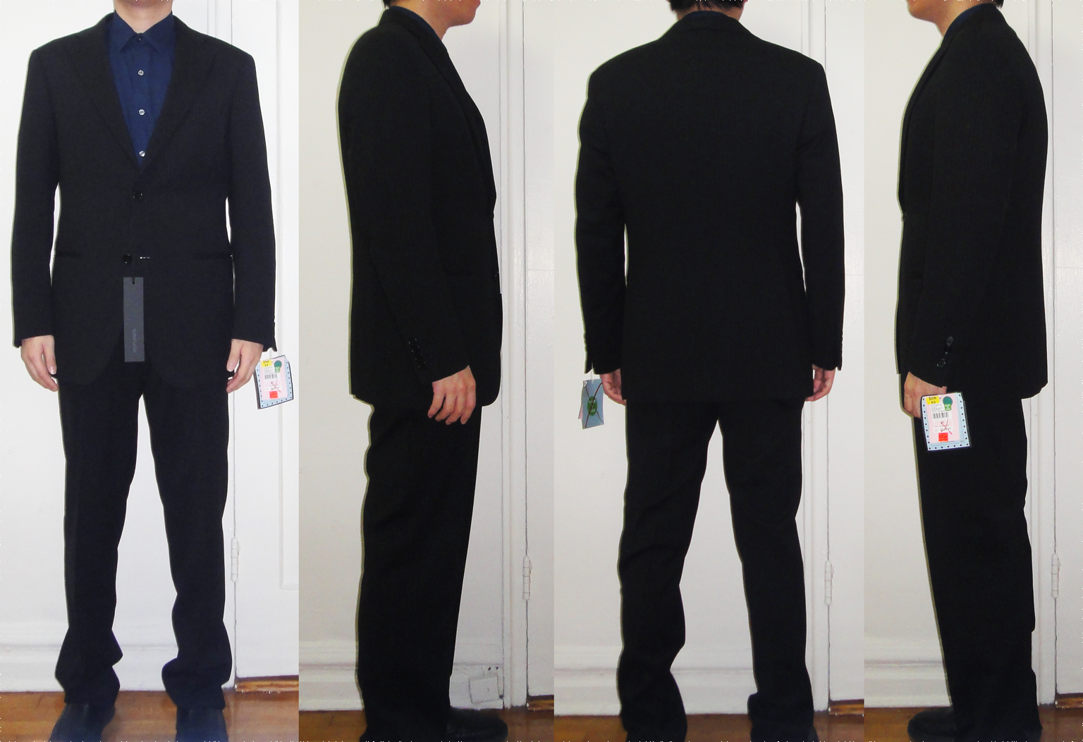 Vestimenta black stripe suit