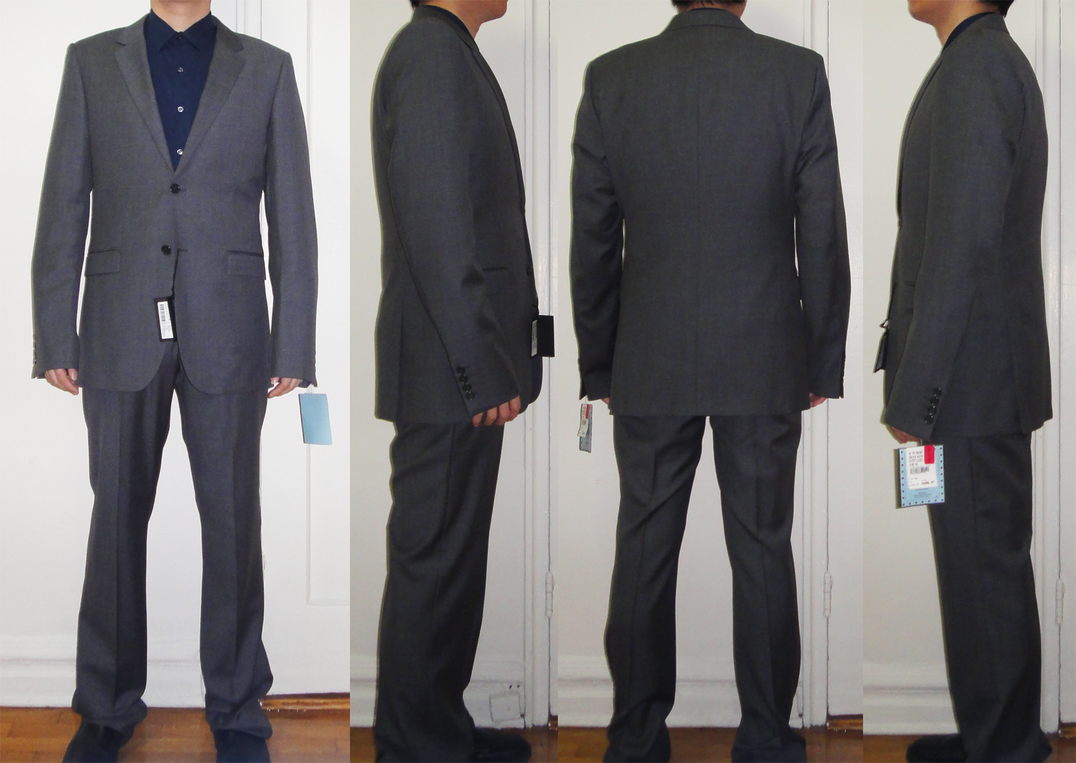 Calvin Klein mid-light grey suit