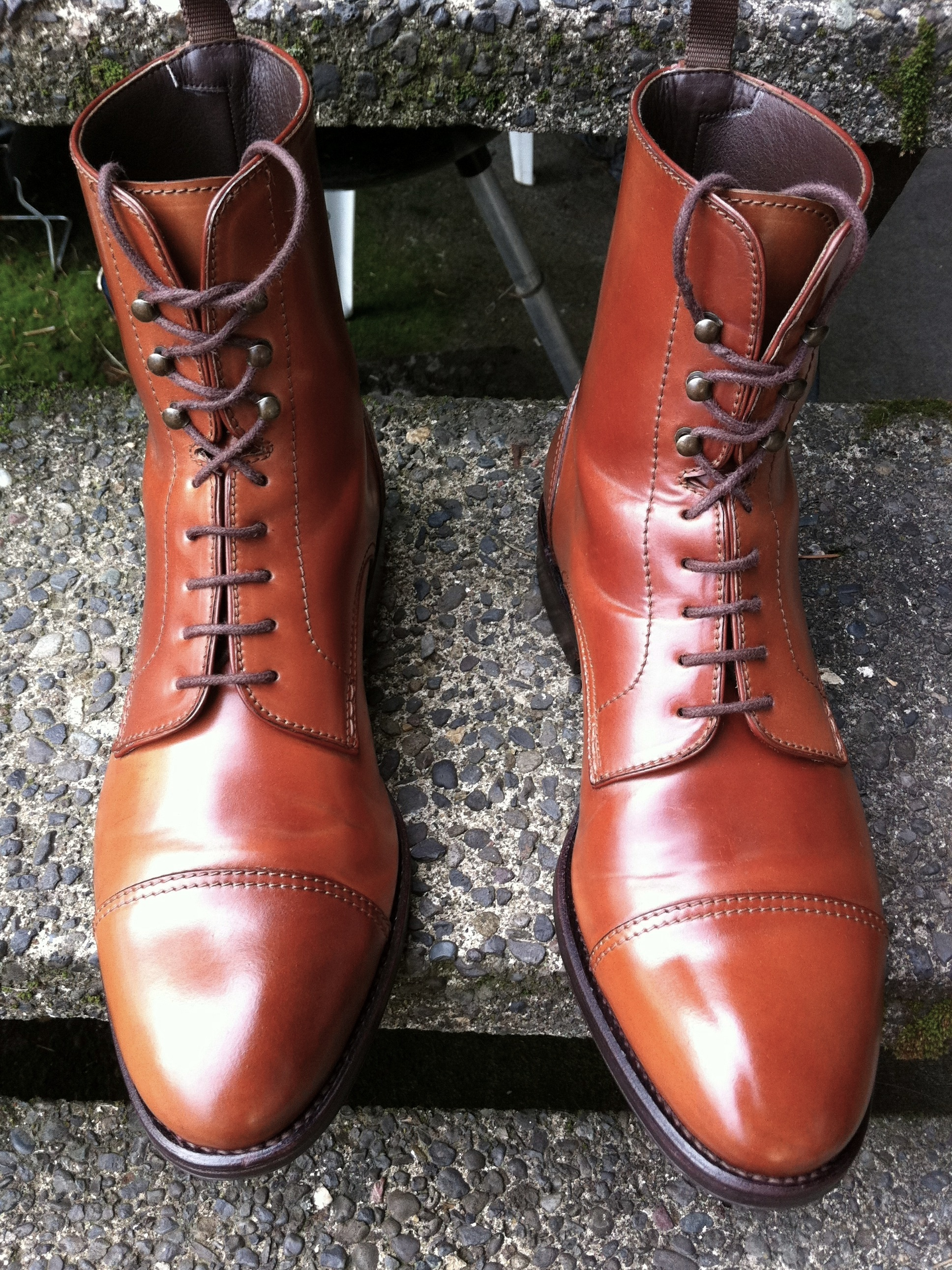 After polishing my shell cordovan boots.