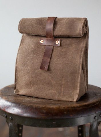 Waxed Canvas Lunch Tote from Artifact Bag Co.