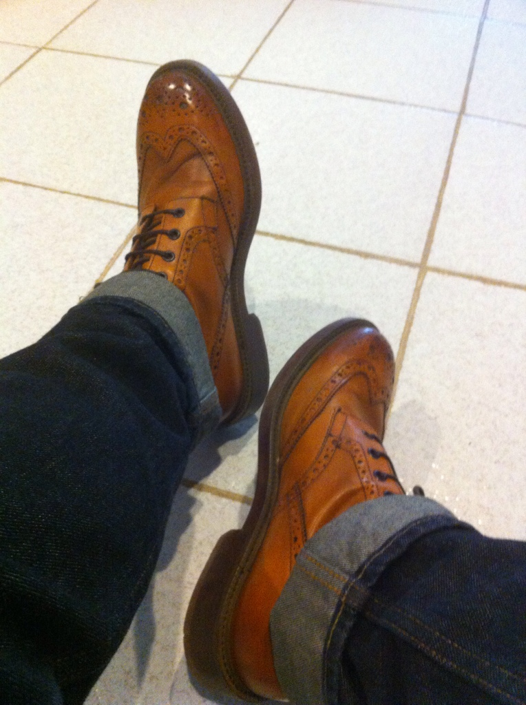 Mr. B's by Aldo Blake boots in cognac color. Size 42.