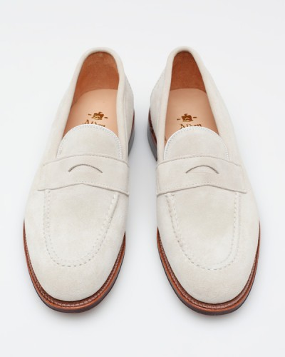 Alden Need Supply white suede loafers, $478