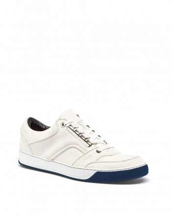 Lanvin PECCARI EMBOSSED LEATHER SNEAKER WITH LACES