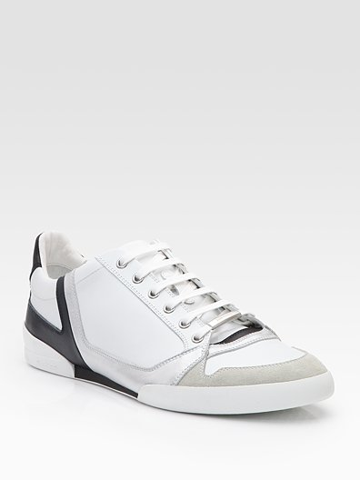 Dior Homme Suede-Trim Sneakers